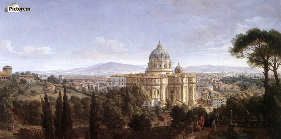 The St Peter's in Rome  Print