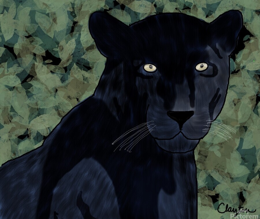 Black Jaguar. Clayton T  Print
