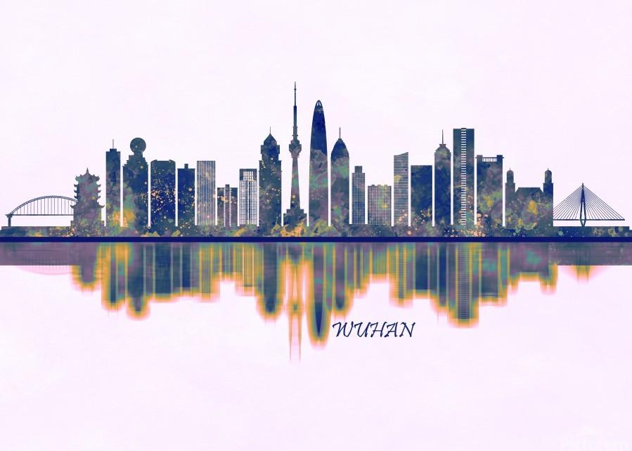 Wuhan Skyline  Print