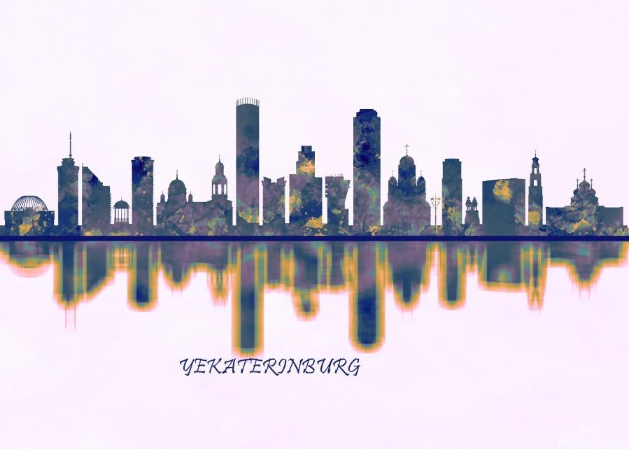 Yekaterinburg Skyline  Print