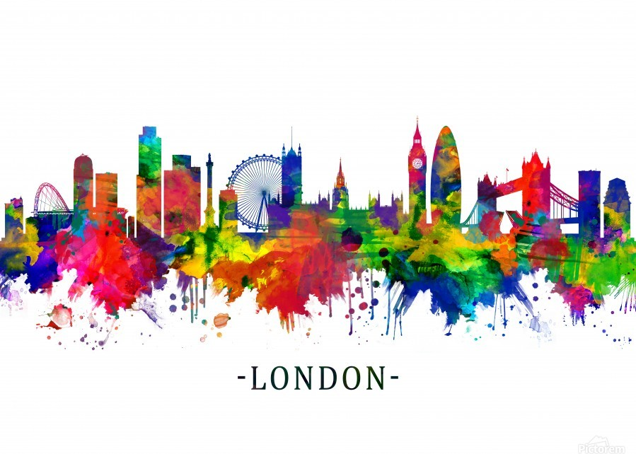 London England Skyline  Print