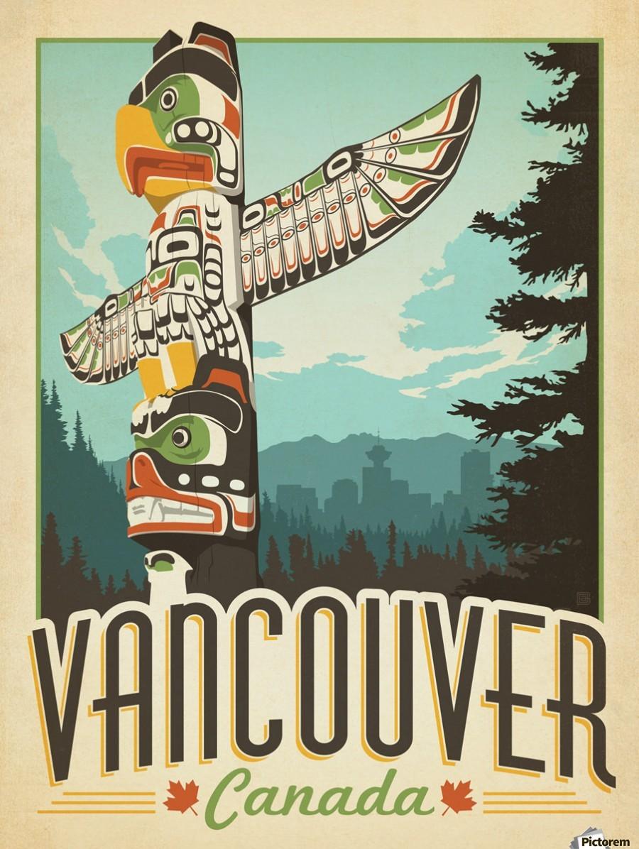 Vancouver Canada Vintage Travel Poster Vintage Poster
