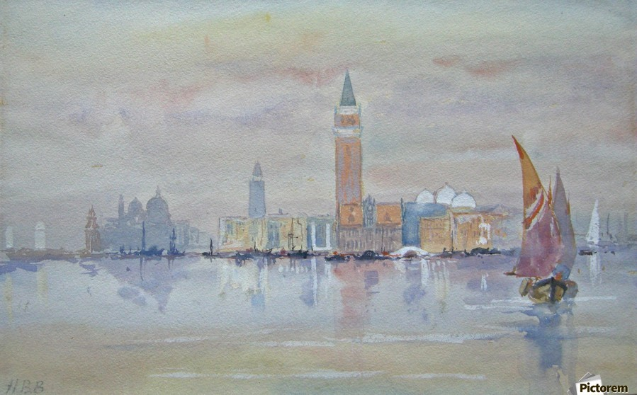 Venice from the Bacino  Print