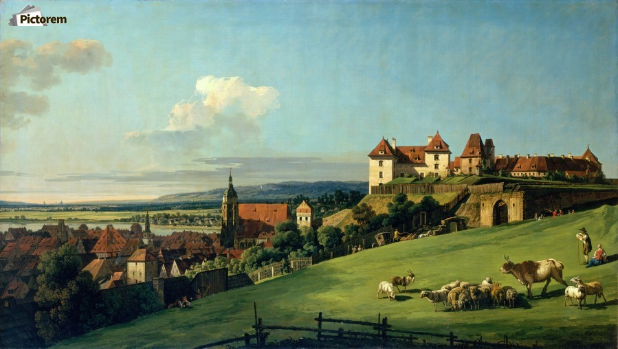 View of Pirna from the Sonnenstein Castle, c. 1750  Print