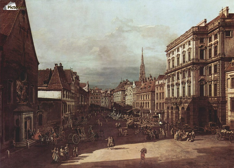 View of Vienna, flour market of Southwest seen from northeast  Print