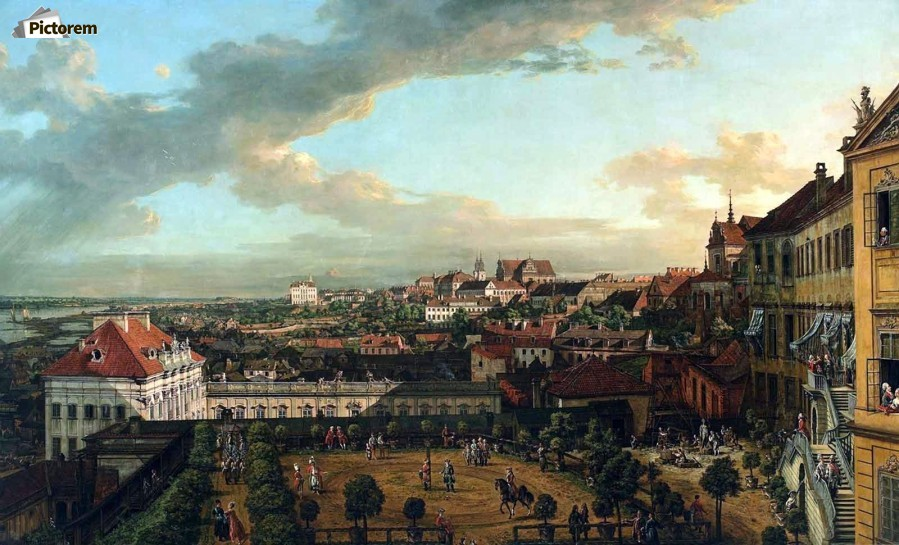 View of Warsaw from the terrace of the Royal Castle  Print