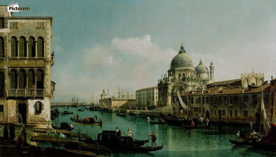 View of the Grand Canal and the Dogana  Print