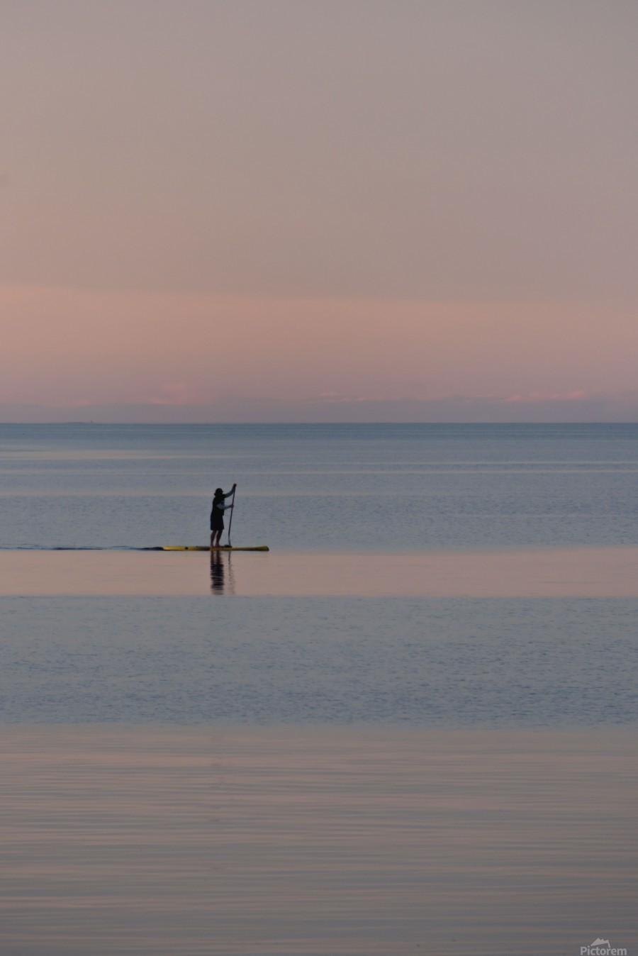 Evening paddleboarder  Imprimer