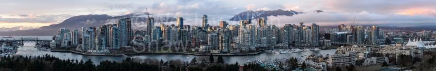 Vancouver Skyline Panorama  Print