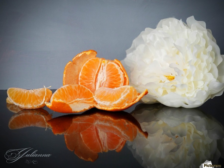 Orange sparkle   Print