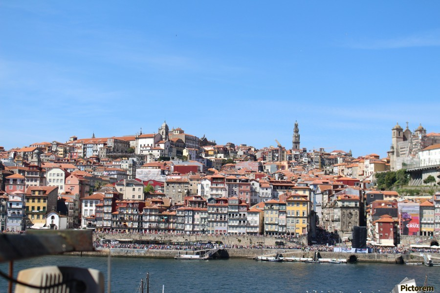 Oporto City at Douro River  Print