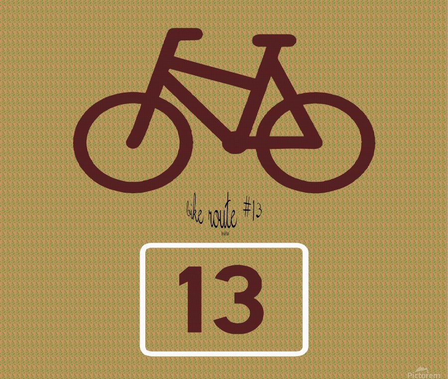 Bike Route number 13  Print