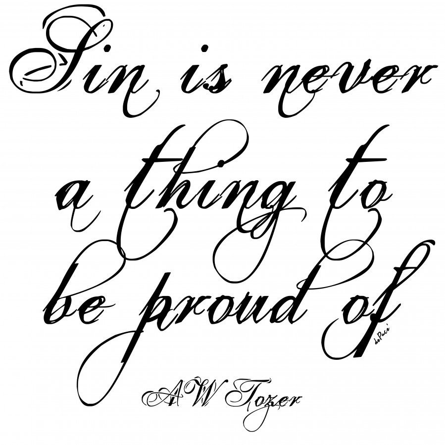 Sin is never a thing to be proud of  Print