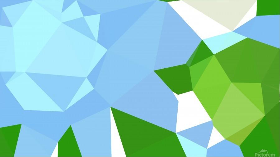 abstract geometric triangular art  Print