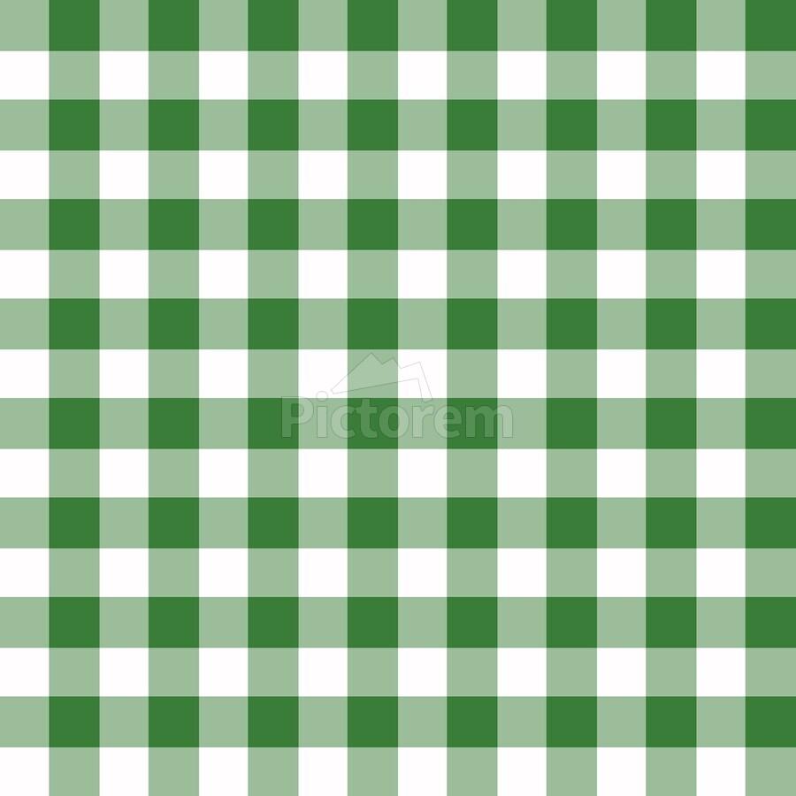 Green Plaid Pattern  Print