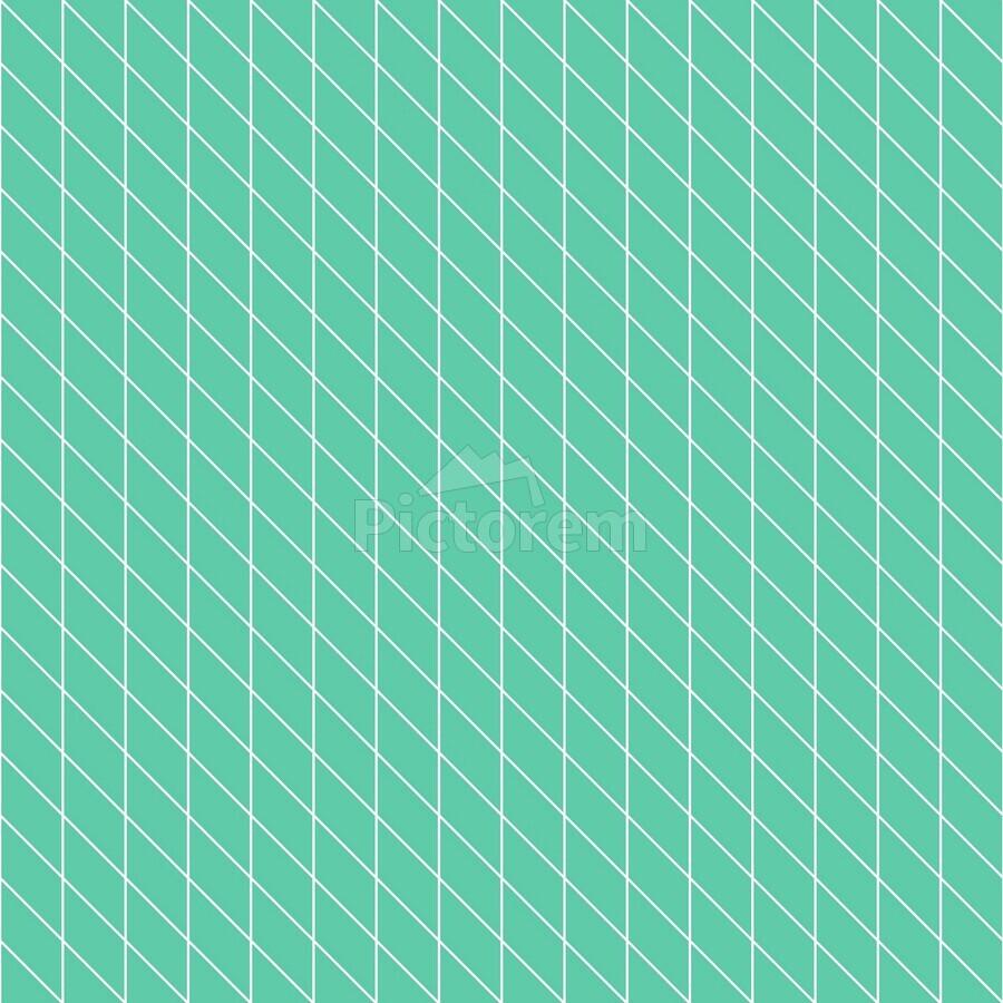 Aquamarine Checkers Pattern  Print