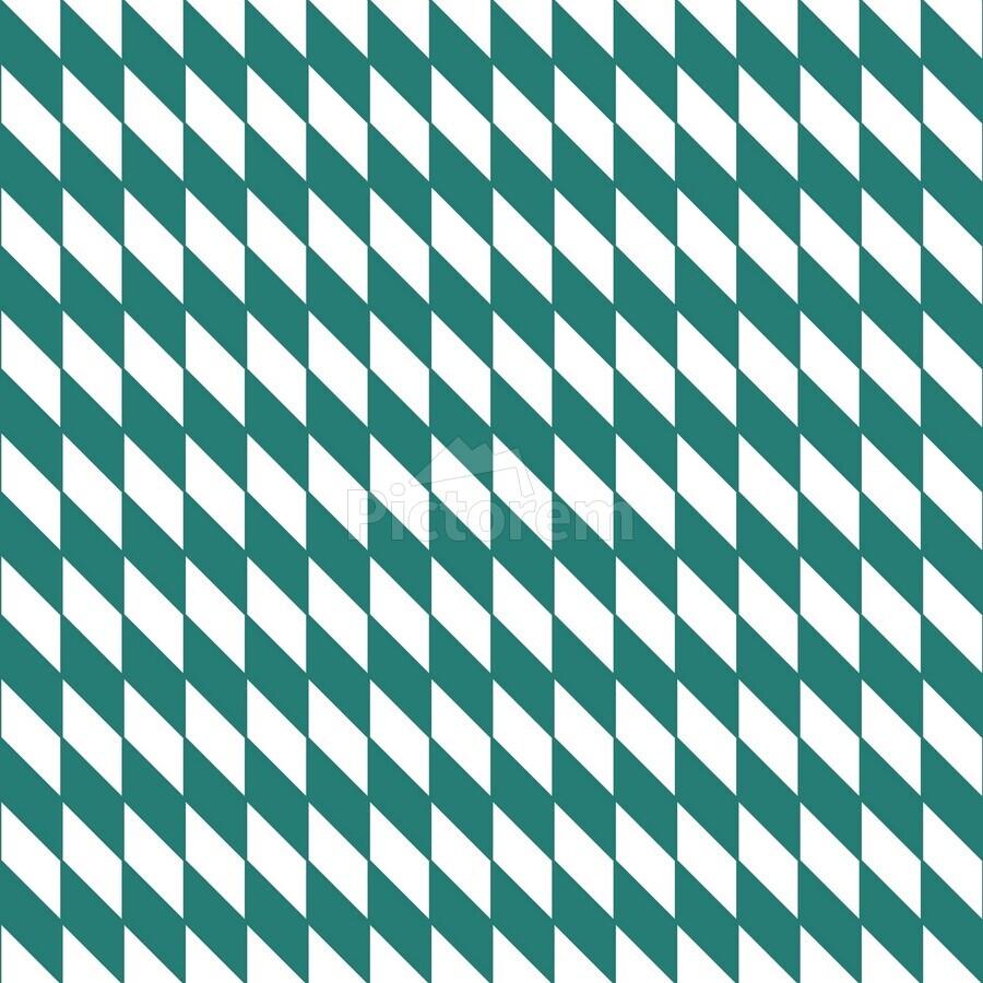 Dark Green Checkers Pattern  Print
