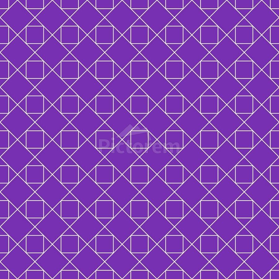 Purple Squares And Diamonds Pattern  Print
