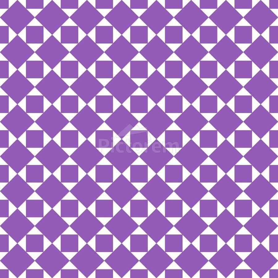 Purple Geometric Pattern  Print