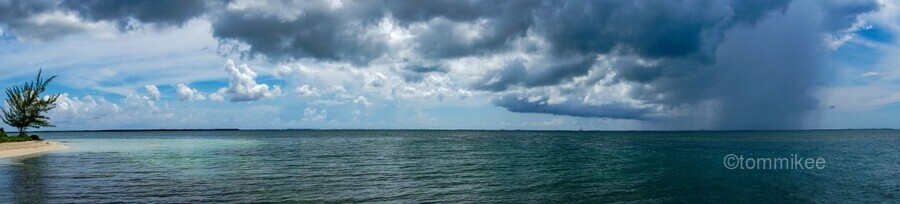 View of Georgetown  from Starfish Point in Grand Cayman  Print