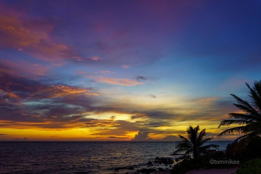 Colorful Caribbean Sky at Grand Cayman  Print
