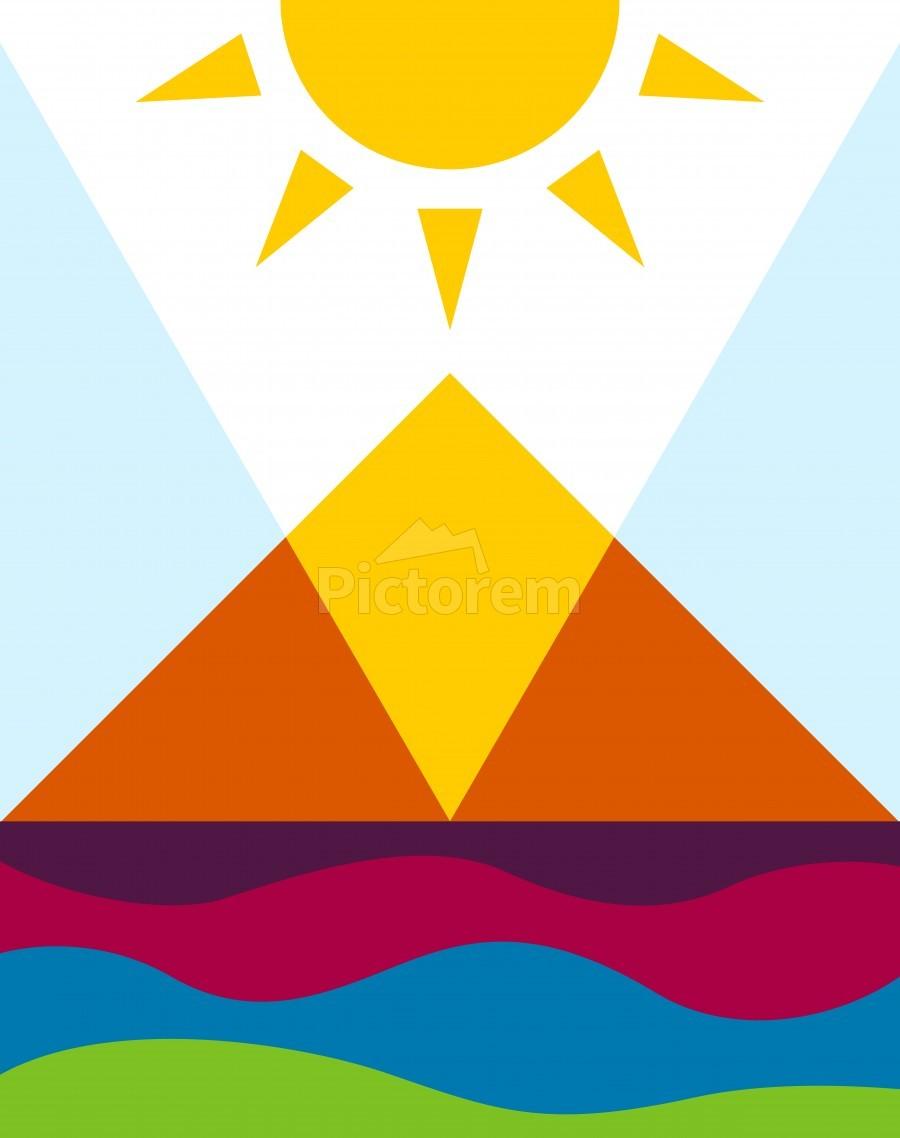 The Pyramid  Print
