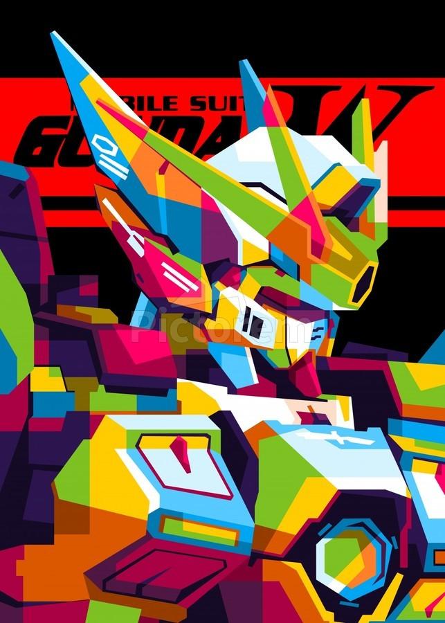 Wings Gundam Zero Pop Art  Print
