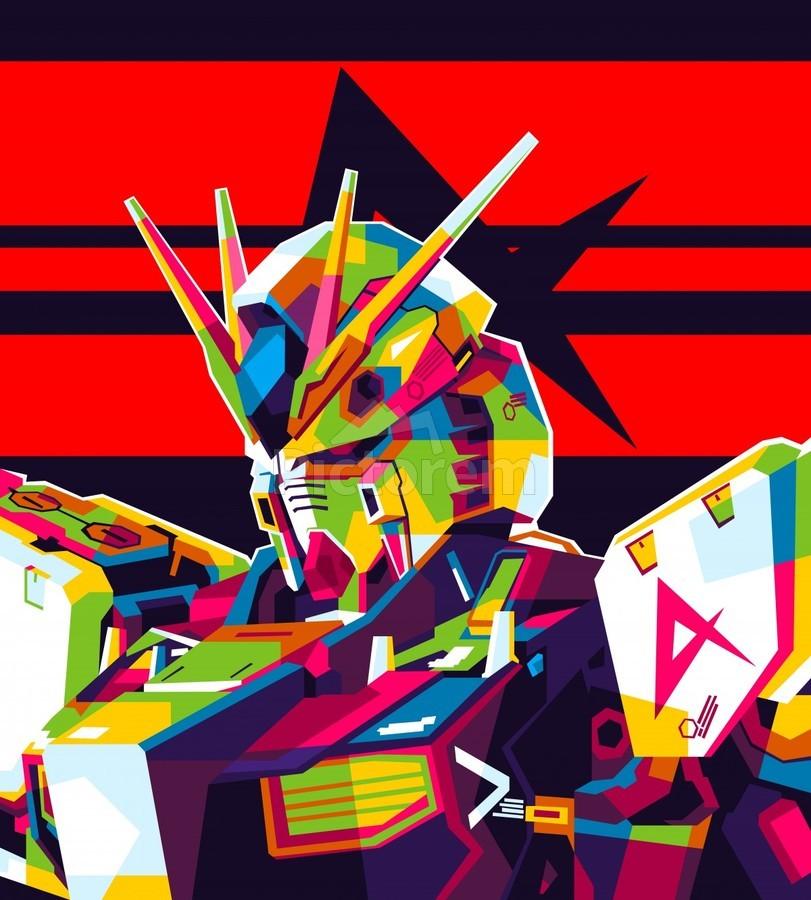 Rx-93 v Gundam NU Gundam  Print