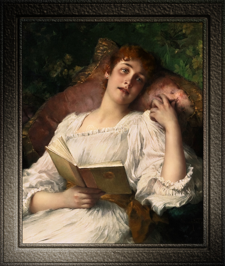 Day Dreaming by Conrad Kiesel Xzendor7 Old Masters Reproductions  Print