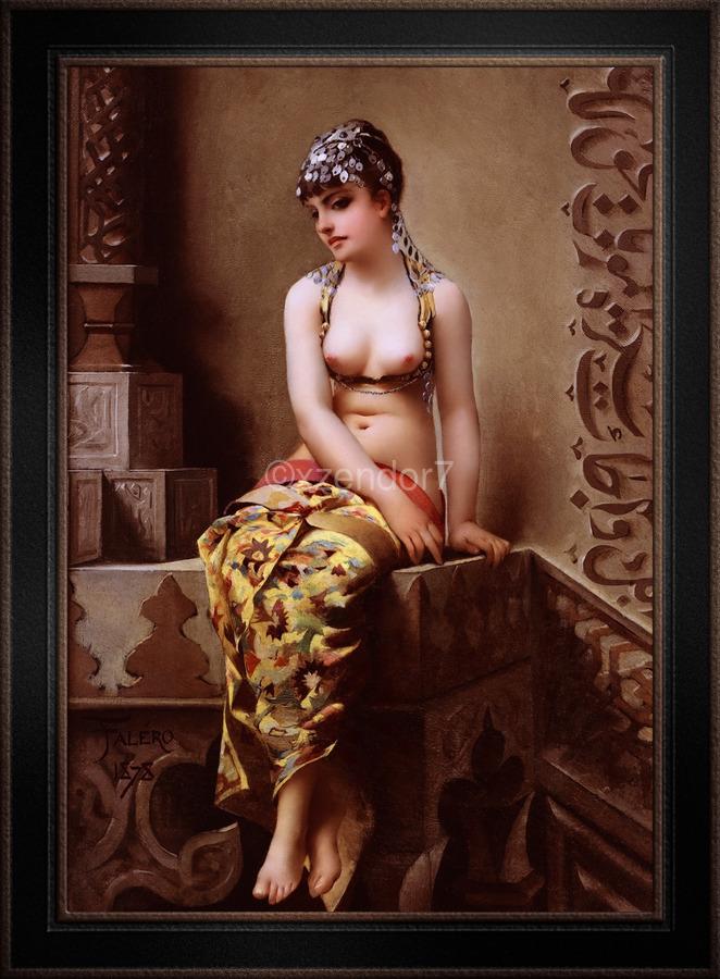 Enchantress by Luis Ricardo Falero Classical Art Xzendor7 Old Masters Reproductions  Print