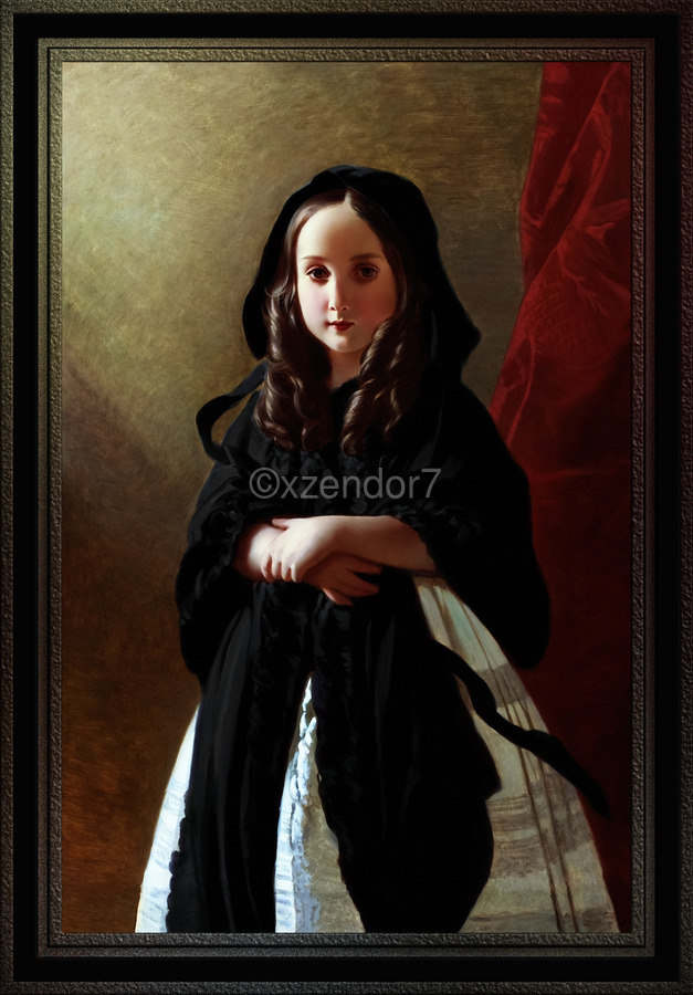 Portrait of Princess Charlotte of Belgium by Franz Xaver Winterhalter Classical Fine Art Old Masters Reproduction  Print