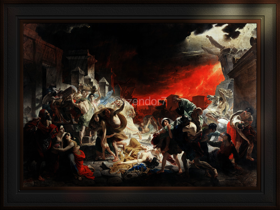 The Last Day of Pompeii by Karl Bryullov Classical Fine Art Xzendor7 Old Masters Reproductions  Print