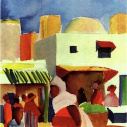 Market in Algier by Macke  Print