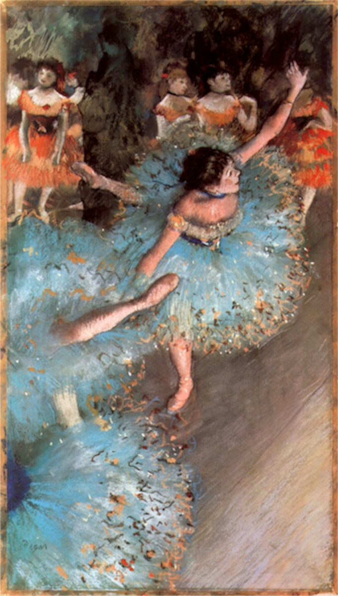 The Greens dancers by Degas  Print