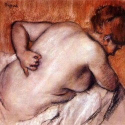 Womans back by Degas  Print