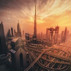 Dubai's Fiery sunset