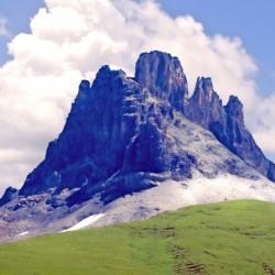 Mountain Peak in the Swiss Alps
