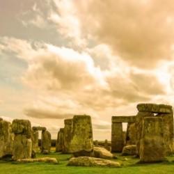 The Day Ends at Stonehenge   Salisbury Plain Wiltshire  England   UNESCO World Heritage Site