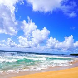 Wailua Beach on the Island of Kauai
