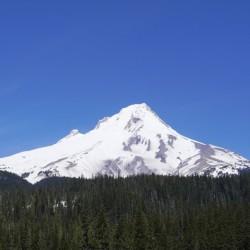 Blue Skies over Mount Hood