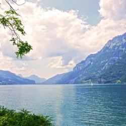Gold and Blue - Lake Walen Switzerland