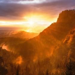 Exploding Sunrise over Boulder