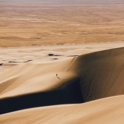 Lonely walk on the Dunes
