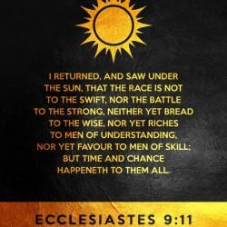 Ecclesiastes 9:11 Bible Verse Wall Art