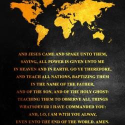 Matthew 28:18-20 Bible Verse Wall Art