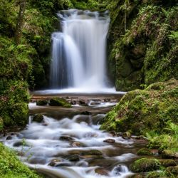Watefall in the Black Forest in Germany