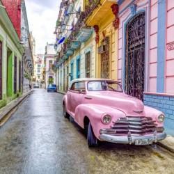 Vintage car on street of Havana, Cuba