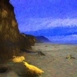 Yachats Beach Painting