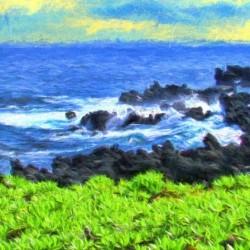 Hana Beach Hawaii Watercolor