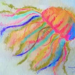 Jellyfish in watercolor